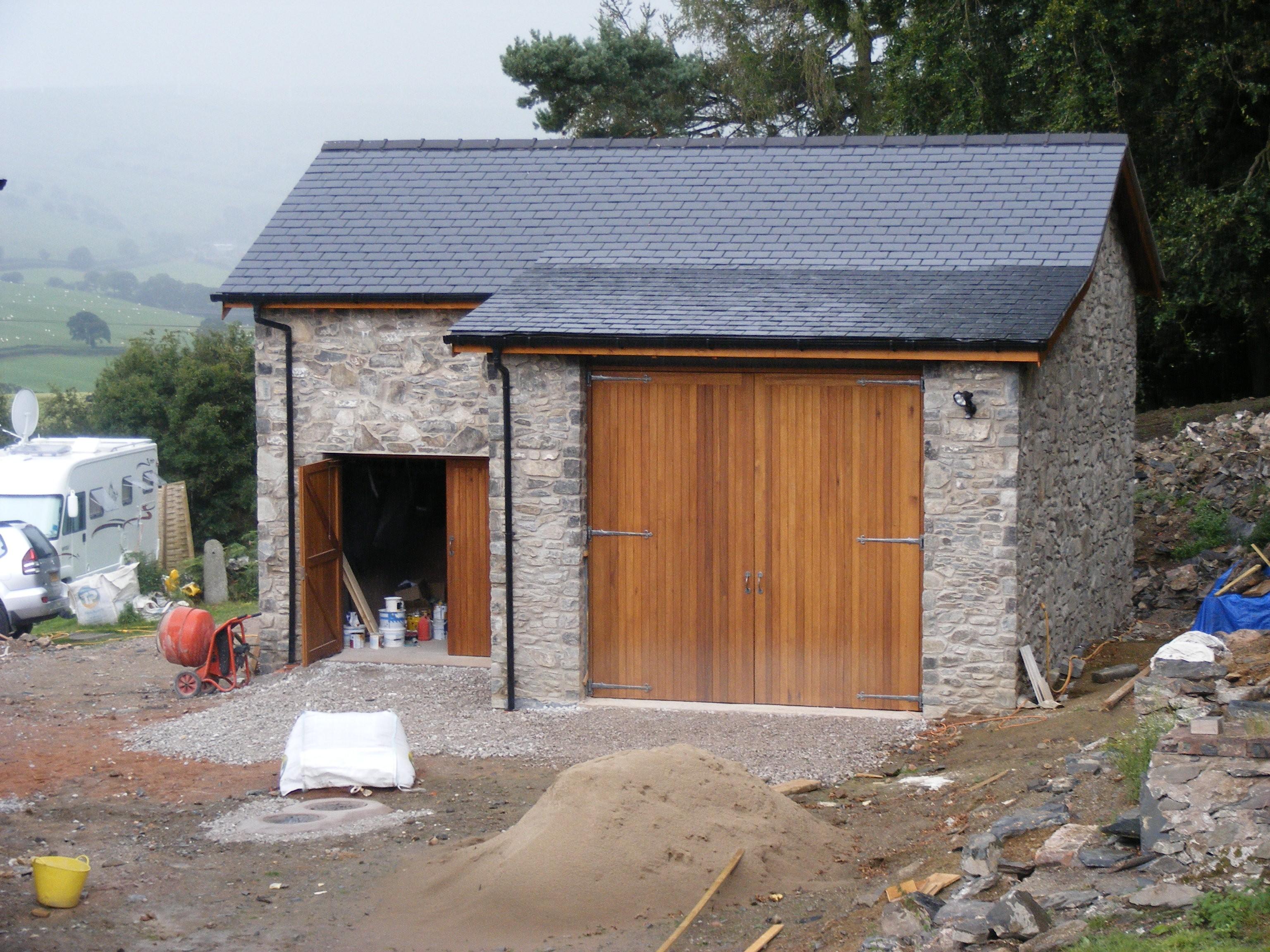 stone built garage
